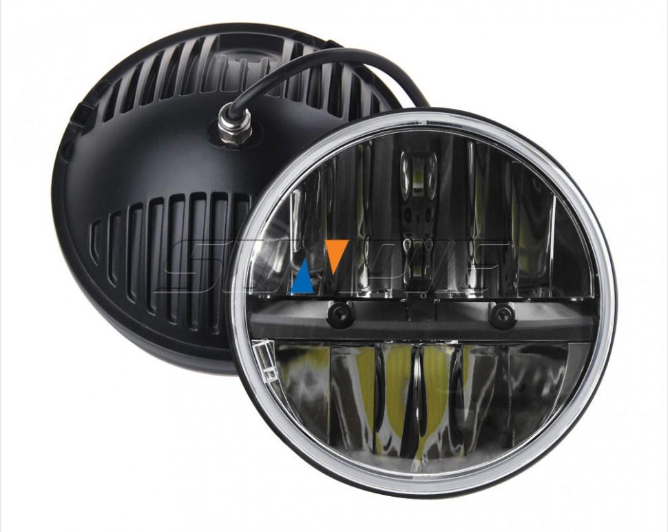 светодиодные фары для НИва, уаз, Jeep Rubicon, Lane Rover Defender